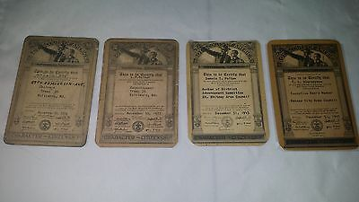 Four Scoutmaster Troop  Bsa  Id Cards