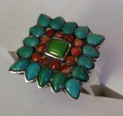 925 sterling BARSE,Turquoise Ring