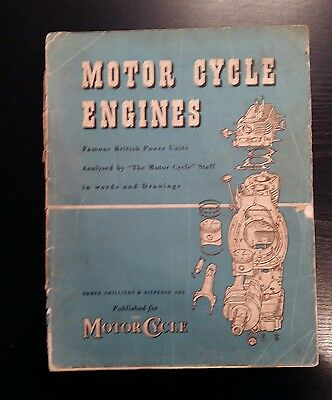Motor Cycle Engines Famous Power Units Analysed by 'The Motor Cycle' Staff 1951