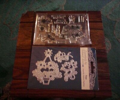 Brand new Tattered Lace Tree Die and stamp Set