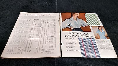 Rare Vintage 1950s Vogue Sewing Pattern Book Early Summer 1951 Paris Models