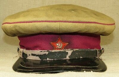 M 38 Red Army enlisted personnel visor hat in used condition