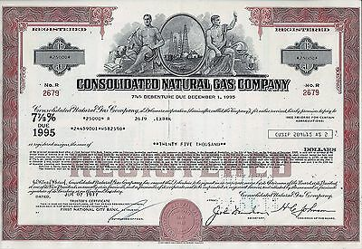 Consolidated Natural Gas Company, 1977, 7 7/8% Debenture due 1995 (25.000 $)