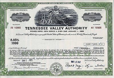 Tennessee Valley Authority, 1974,  8,05% Power Bond Ser. A due 1999 (10.000$)