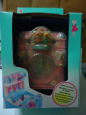 "Polly Pocket Vintage ""fun Time Clock "" Sous Blister Neuf / Annee 1990"