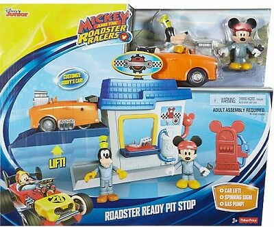 Disney Junior Kids Mickey And The Roadster Racers Ready Pit Stop Playset Toy NEW