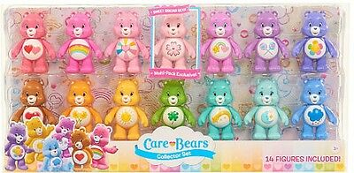 Just Play Care Bears Collector Set 3 Inch 14 Figure Deluxe Pack Baby Kid Toy NEW