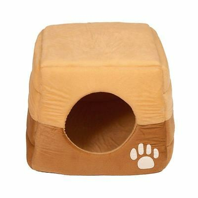 NEUF Panier pour Chat / Chien Taupe&Beige à Coussin dôme igloo tipi niche grotte