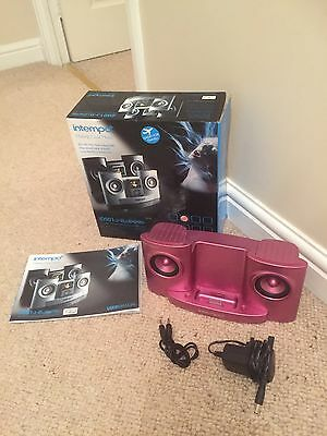 Intempo Pink IPod  Speaker Dock & Charging Unit, Complete & Boxed, VGC