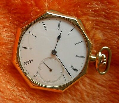 LONGINES Pocket Watch 1904 - 15 jewels GOLD PLATED (184)