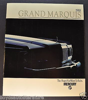 1988 Mercury Grand Marquis Brochure LS Colony Park Wagon Excellent Original 88