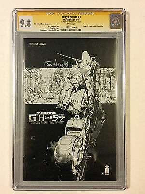 Tokyo Ghost #1 CGC 9.8 Convention Sketch Cover SS Rick Remender Sean Murphy NYCC