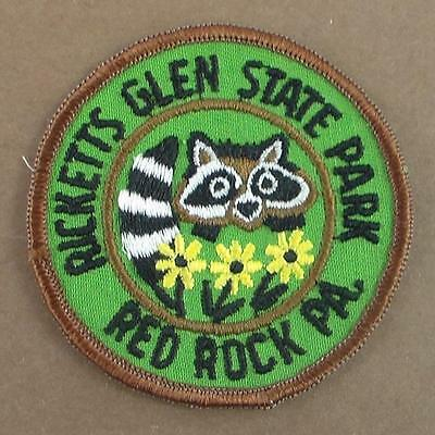 """Vintage Ricketts Glen State Park Red Rock Pa Patch 3"""" Racoon"""