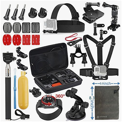 Vanwalk Accessories Kit for AKASO EK5000 EK7000 4K WIFI DBPOWER Action Camera Go
