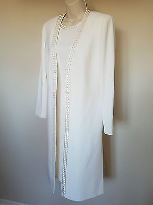 Bnwot Condici Cream Mother of the Bride Dress & Jacket Suit/Set/Outfit Size 12