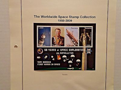 Tanzania 2009 50 Years Of Space Exploration M12911 Hinged