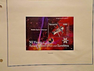 Tanzania 2009 50 Years Of Space Exploration Souvenir Stamp, Hinged
