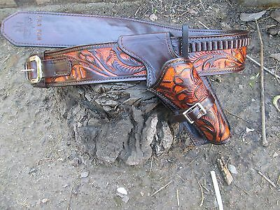D.A.D CUSTOM LEATHER  Hand Toold  Cross Draw  Western Holster