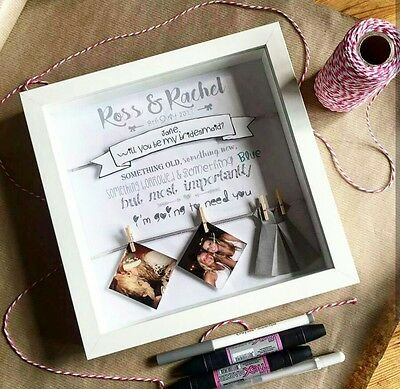 Will You Be My Bridesmaid / Maid of honour /flower girl unique box frame gift