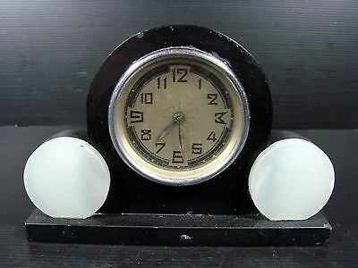 RARE REVEIL Art Deco MARBRE Marble french clock collection 1475 grammes