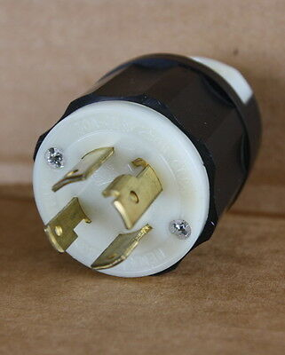 3Ø Phase Leviton 30a 125-250 Twist Male Plug L14-30 4 Prong 2711 made in USA