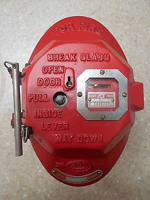 Adt Vintage Fire Alarm Box With Keys And Glass Break