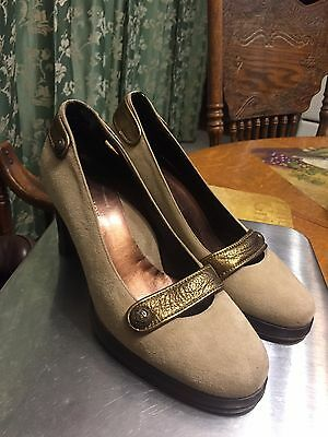 ad211ed273ed Women s Taryn Rose Made In Italy Suede leather Platform Pumps Size Eu 37 1
