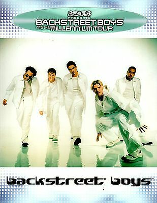 Backstreet Boys 2000 Into The Millennium Tour Program Book / Near Mint 2 Mint