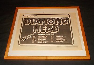 Diamond Head  - Uk Tour Advert (Vintage Nwobhm Collections) Silverwing (Metal)