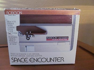 Robeson Space Encounter Fully Automatic Can Opener Bottle Opener Bag Slitter New
