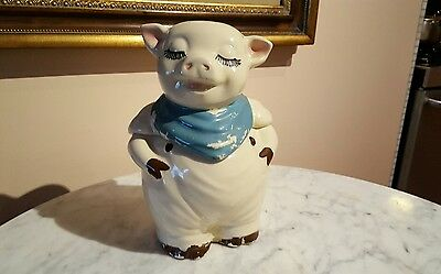Vintage 1940s USA Shawnee Pottery Smiley The Pig Cookie Jar
