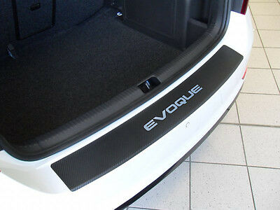 Boot sill protection film for Range Rover Evoque chrome-carbone +logo