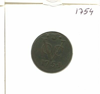 1754 Utrecht Voc Duit Netherlands Indies New York Colonial Penny E16655.7