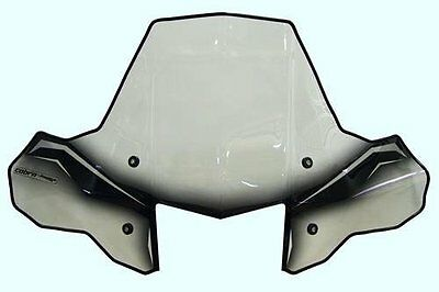 PowerMadd 24570 ProTEK Windshield for ATV Standard Mount Clear w/ black graphics