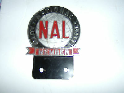 ANTIGUE NATIONAL AUTO LEAGUE license plate topper