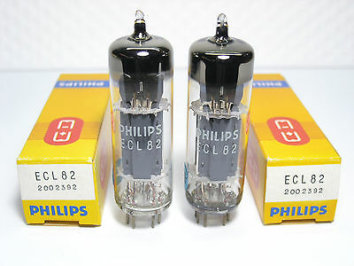 ECL82 Philips nos Vintage '70s  close MATCHED PAIR
