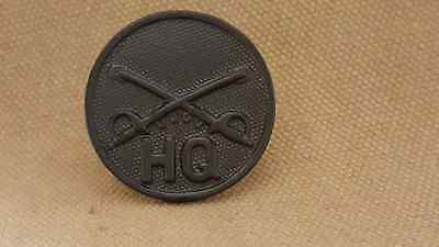 WWI US Army HQ Company Cavalry Collar Disk