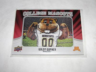 2012 Upper Deck GOLDY the GOPHER #CM-27 MINNESOTA Golden Gophers Mascot Patch