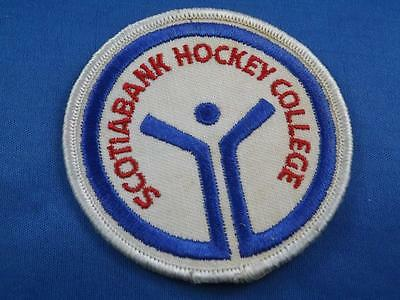 Scotiabank Hockey  Patch Souvenir Nhl Advertising Sponsor Collector Bbadge
