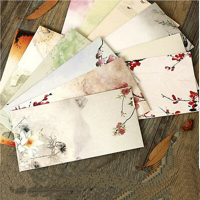 30Pcs Chines Style Paper Envelopes For Invitations Wedding Invitation Envelope