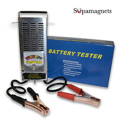 NEW! Car Battery Load Tester 6-12 volt 100 AMP | Stainless Steel Case