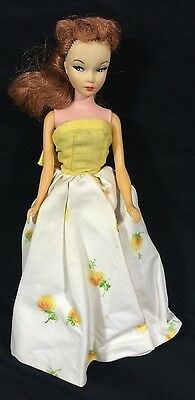 Vintage 1960s Miss Suzette Yellow White Floral Sundress No Doll Included