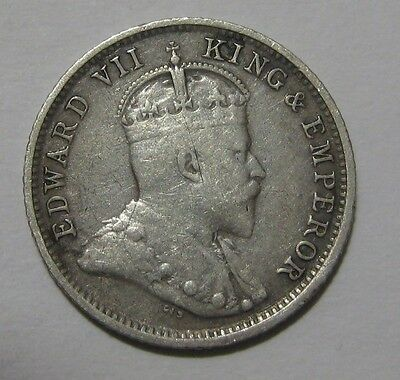 1903 -  Great Britain / Guiana / West Indies - 4 Pence Silver Coin