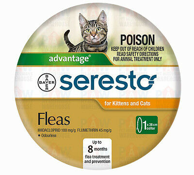 Advantage Seresto Cat & Kitten Flea Collar 38cm Length Up to 8 Months Protection
