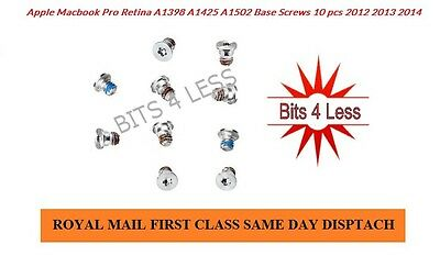 Apple Macbook Pro  A1502 A1398 A1425 bottom Base case Screws 10 pcs screw set UK
