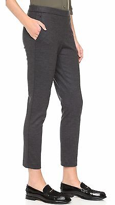 THEORY NWT 'Thaniel' Charcoal Wool Blend Cropped Pants Sz 10 $295