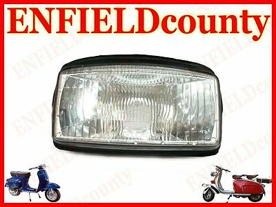 Brand New Vespa Headlight Lamp Unit Assembly With Rubber Beading T5 @aud