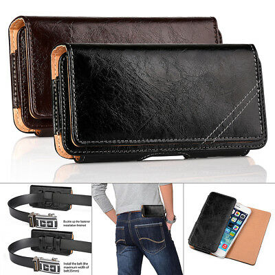 For Apple Iphone 7 6 6S Plus Genuine Leather Case Holster Belt Clip Pouch, New!