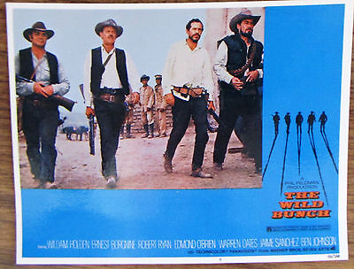 THE WILD BUNCH Movie Ad. VHS Advertisement Insert Card From 1969. William Holden