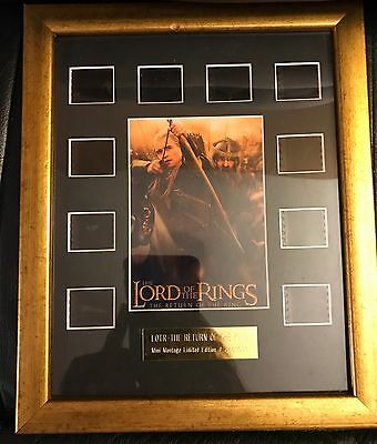 Rare Lord Of The Rings The Return Of The King Limited Edition Film Cell Montage